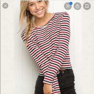 Red white and blue brandy Melville long sleeve
